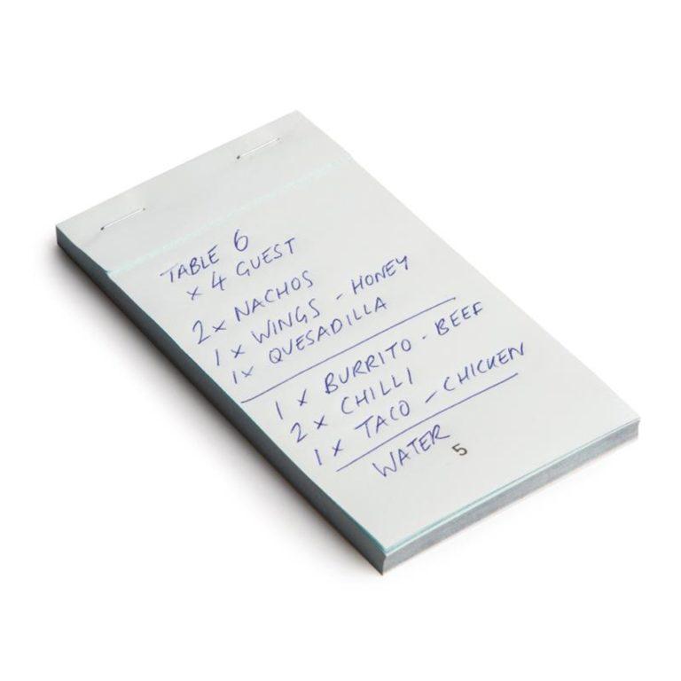 Carbonless Waiter Pad Duplicate Small