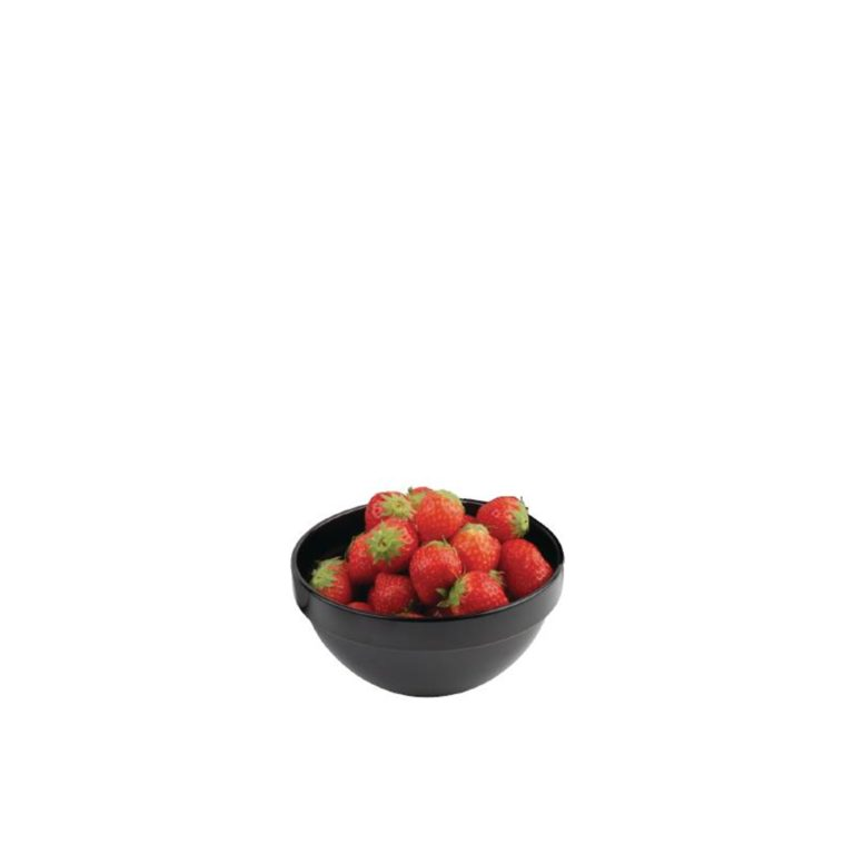 APS Frames Black 0.5Ltr Melamine Bowl