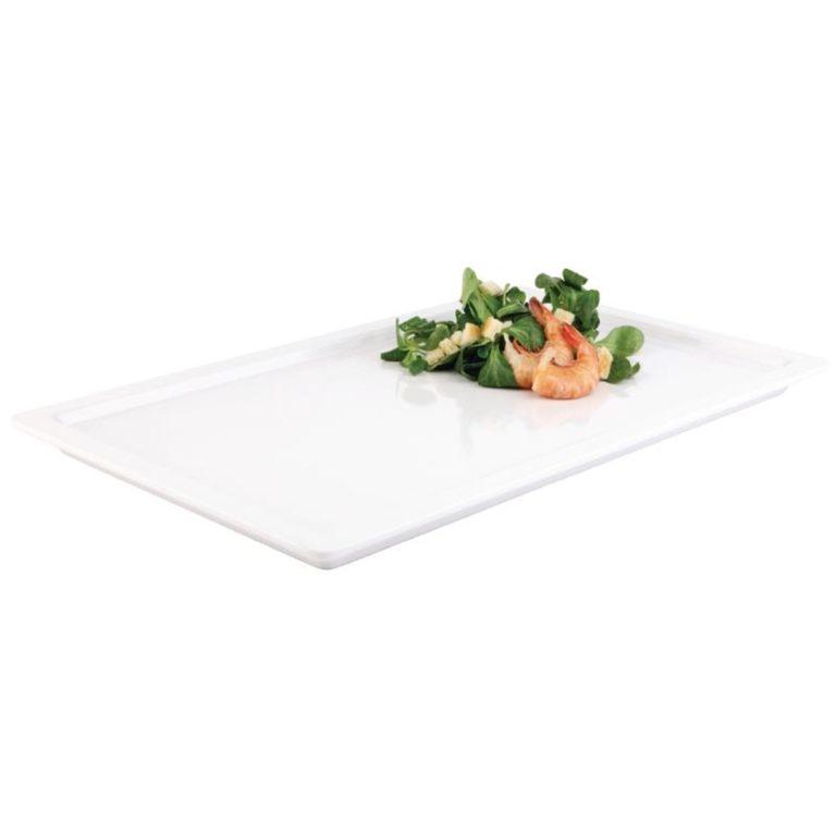 White 1/2 GN Rectangular Buffet Tray
