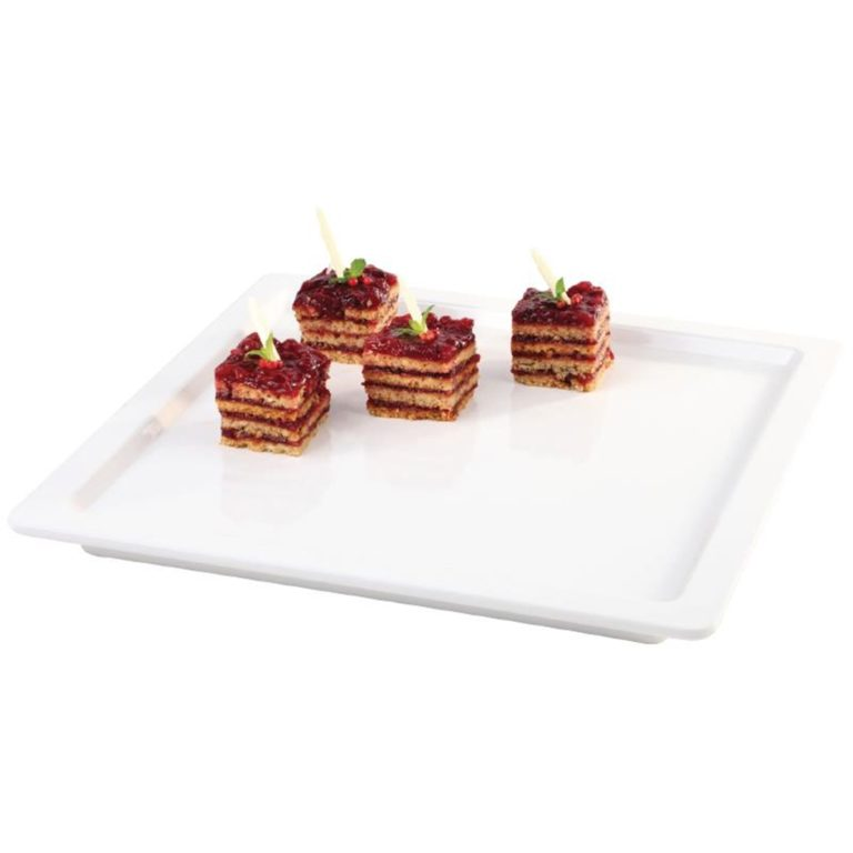 "White Square 13"" Melamine Tray"