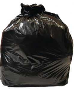 Jantex Large Medium Duty Black Bin Bags 80 Litre Pack of 10
