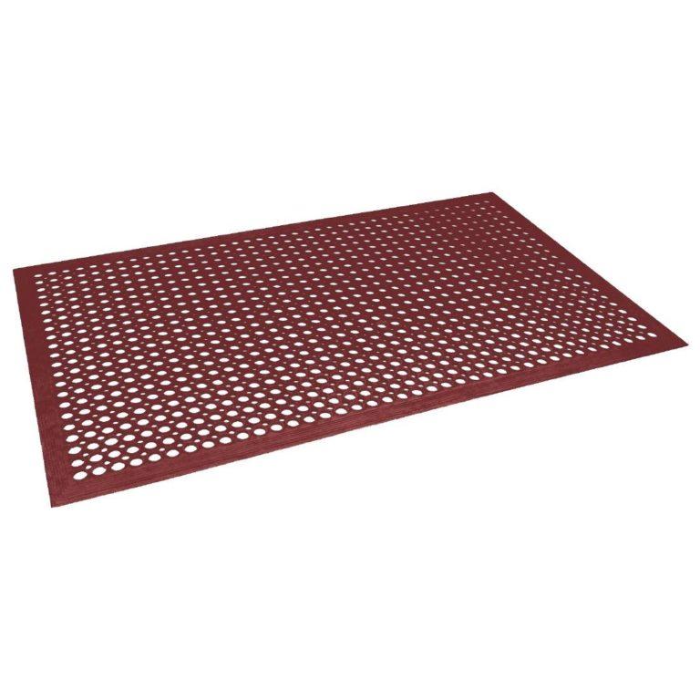 Jantex Rubber Anti Fatigue Mat Red