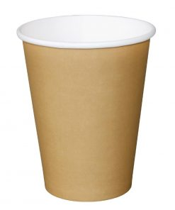 Fiesta Single Wall Takeaway Coffee Cups Kraft 340ml / 12oz x 50