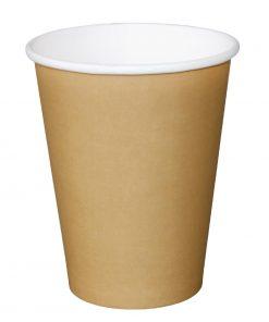 Fiesta Single Wall Takeaway Coffee Cups Kraft 455ml / 16oz x 50
