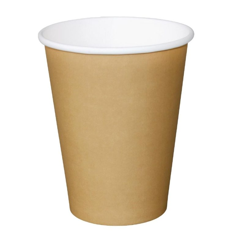 Fiesta Single Wall Takeaway Coffee Cups Kraft 455ml / 16oz x 50
