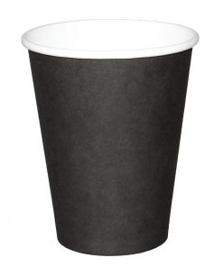 Fiesta Single Wall Takeaway Coffee Cups Black 225ml / 8oz x 50