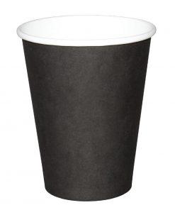 Fiesta Single Wall Takeaway Coffee Cups Black 340ml / 12oz x 50