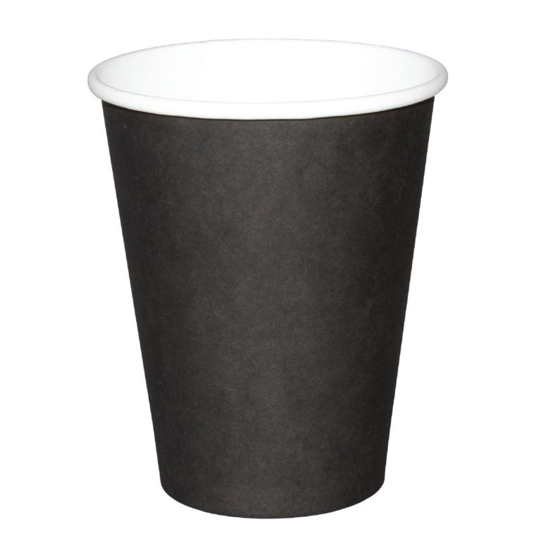 Fiesta Single Wall Takeaway Coffee Cups Black 340ml / 12oz x 50