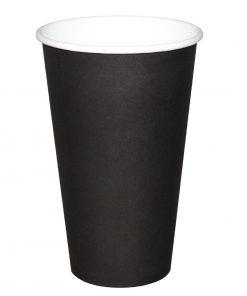 Fiesta Single Wall Takeaway Coffee Cups Black 455ml / 16oz x 1000
