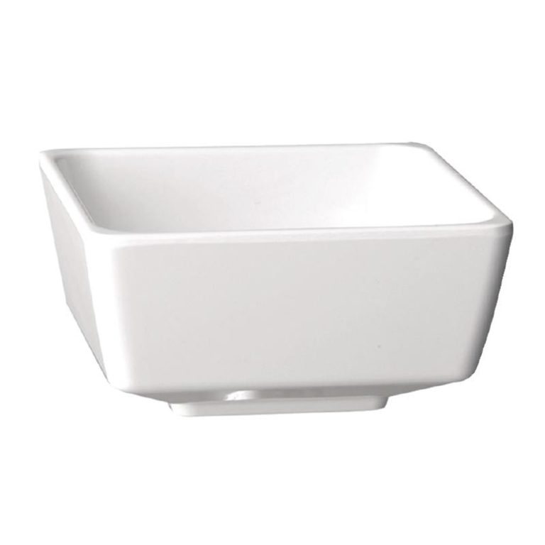 APS Float White Square Bowl 7in
