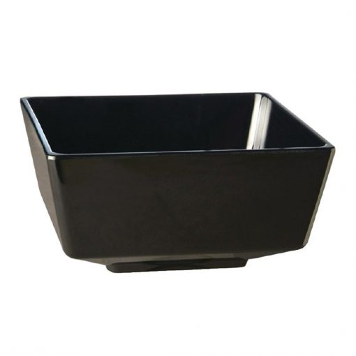 APS Float Black Square Bowl 7in