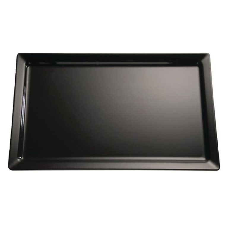 APS Pure Black Melamine Tray GN 1/2