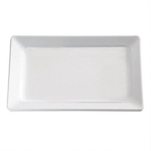 APS Pure White Melamine Tray GN 1/4