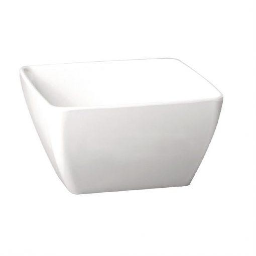 APS Pure Melamine White Square Bowl 190mm