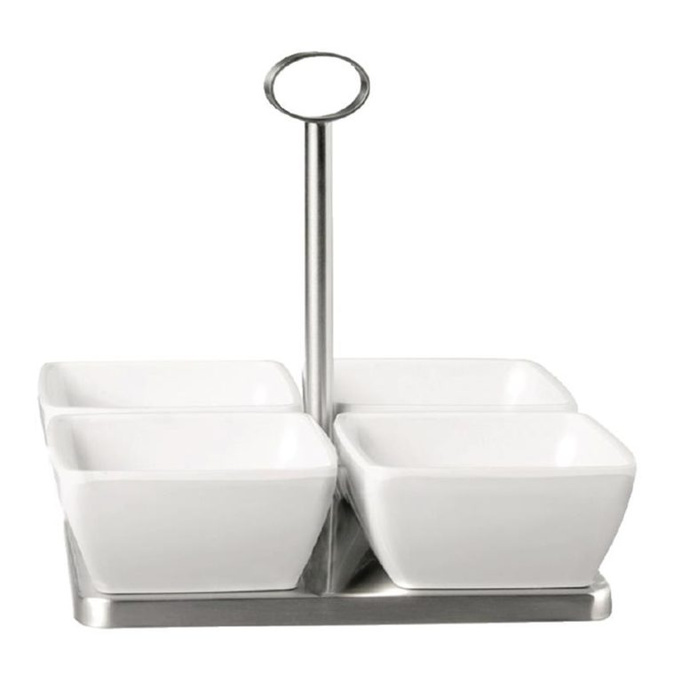 APS Stainless Steel Stand with 4x Bowls