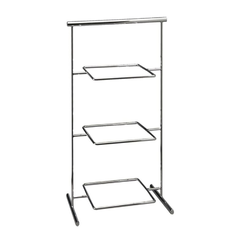 APS Pure Melamine Chrome Serving Stand 290mm
