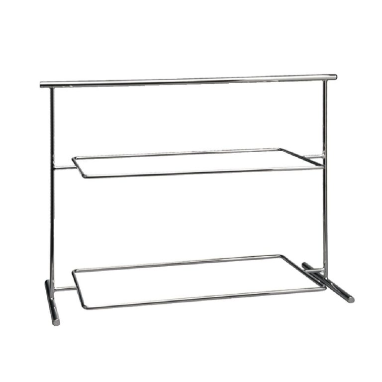 APS Pure Melamine Chrome Serving Stand 630mm