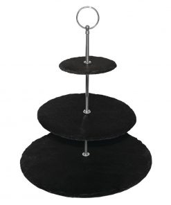 Olympia 3 Tier Slate Afternoon Tea Stand