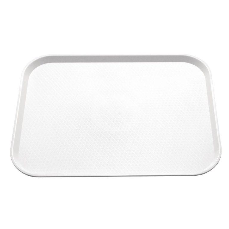 Kristallon Plastic Fast Food Tray White Large