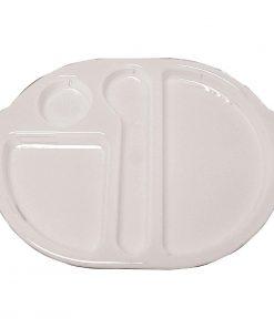 Kristallon Plastic Food Compartment Tray Small White