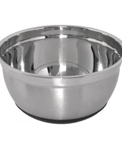 Vogue Stainless Steel Bowl with Silicone Base 5Ltr