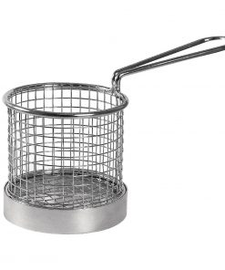 Olympia Chip Basket round with Handle 95mm
