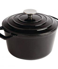 Vogue Black Round Casserole Dish 3.2Ltr