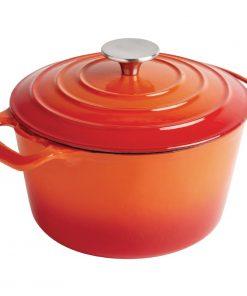 Vogue Orange Round Casserole Dish 3.2Ltr