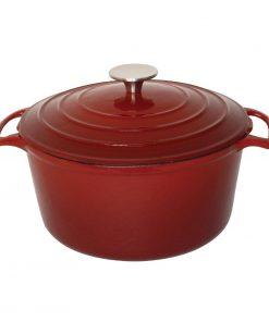 Vogue Red Round Casserole Dish 4Ltr