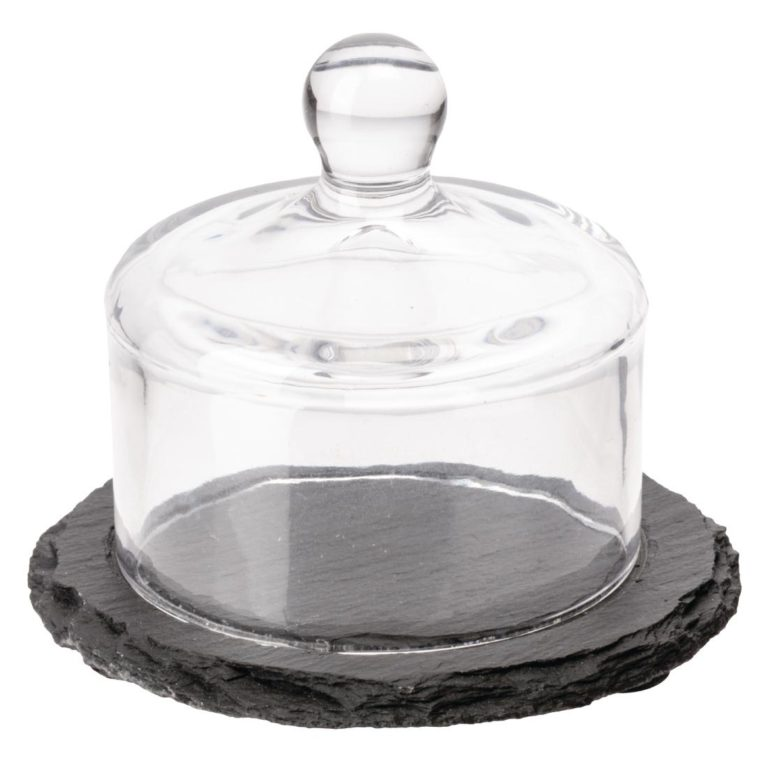 APS Slate Butter Dish Glass Cloche