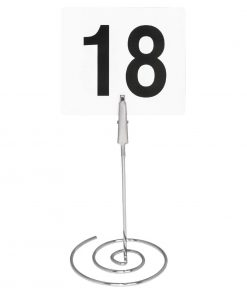 Chrome Plated Spiral Table Number Clip