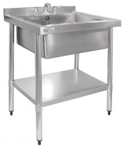 Vogue Stainless Steel Midi Pot Wash Sink with Undershelf