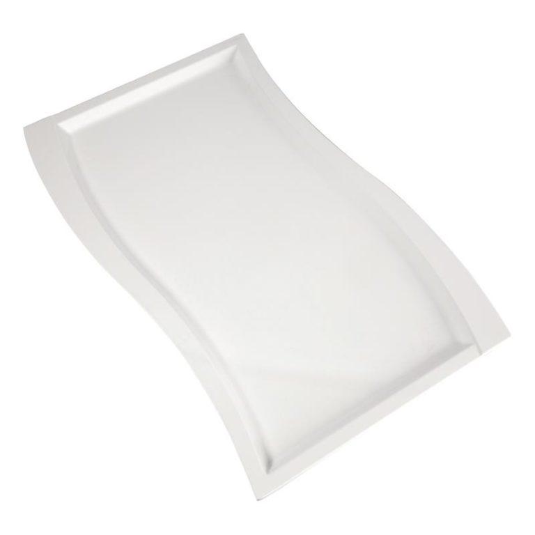 APS Wave Melamine Platter White GN 1/1