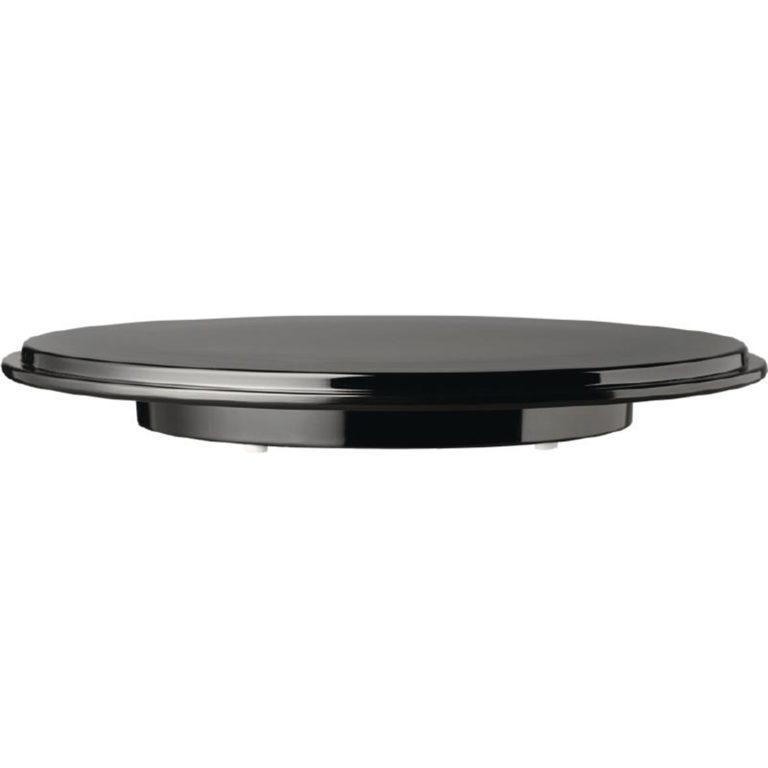 APS Pure Round Cake Platter Melamine Black