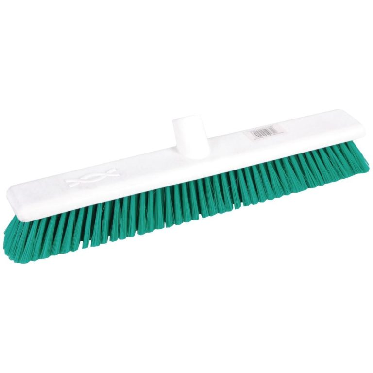 Jantex Hygiene Broom Soft Bristle Green 18in