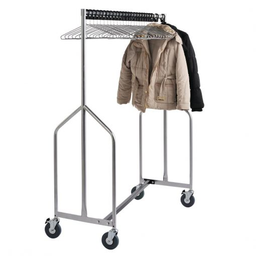 Heavy Duty Z Garment Rail With 25 Anti Theft Hangers