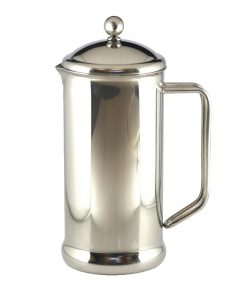 Olympia Polished Stainless Steel Cafetiere 8 Cup