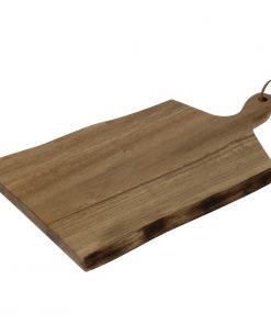 Olympia Acacia Wavy Handled wooden Board Small