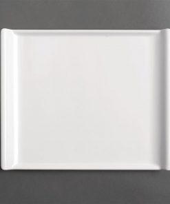 Kristallon Melamine Platter White 530 x 330mm