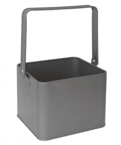 Olympia Galvanised Table Tidy Grey