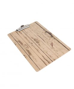Olympia Wood Effect Menu Clipboard A4
