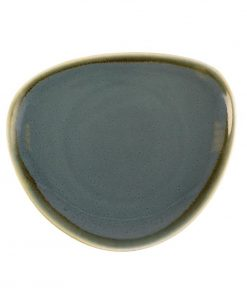 Olympia Kiln Triangular Plate Ocean 165mm