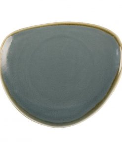 Olympia Kiln Triangular Plate Ocean 230mm