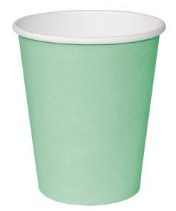 Fiesta Single Wall Takeaway Coffee Cups Turquoise 225ml / 8oz x 50