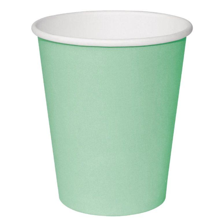 Fiesta Single Wall Takeaway Coffee Cups Turquoise 340ml / 12oz x 1000