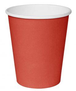 Fiesta Single Wall Takeaway Coffee Cups Red 225ml / 8oz x 50