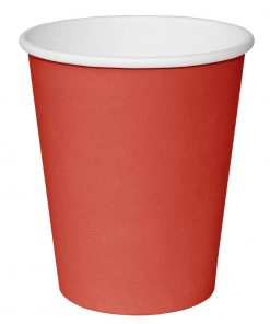 Fiesta Single Wall Takeaway Coffee Cups Red 340ml / 12oz x 1000