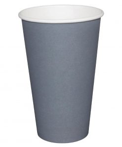Fiesta Single Wall Takeaway Coffee Cups Charcoal 225ml / 8oz x 50