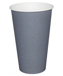 Fiesta Single Wall Takeaway Coffee Cups Charcoal 225ml / 8oz x 1000