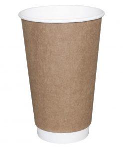 Fiesta Double Wall Takeaway Coffee Cups Kraft 340ml / 12oz x 25